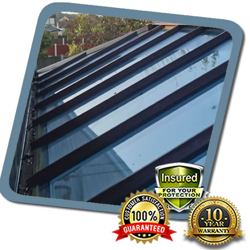 Low Cost Glass Roofing Fixed in Milton Keynes
